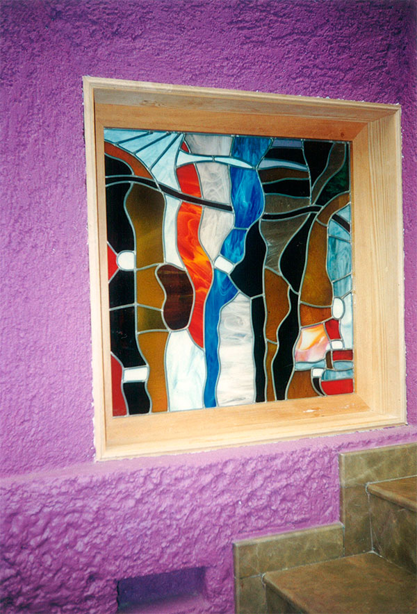 vitral abstracto colores